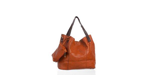 Dámska koňakovo hnedá kabelka Moow