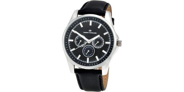 Pánske čierne analogové hodinky Tom Tailor