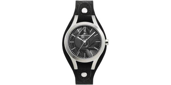 Dámske hodinky Tom Tailor s čiernym koženým remienkom