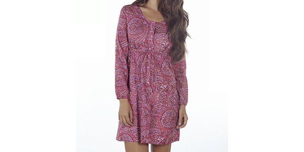 Dámske ružové šaty s potlačou Wanda