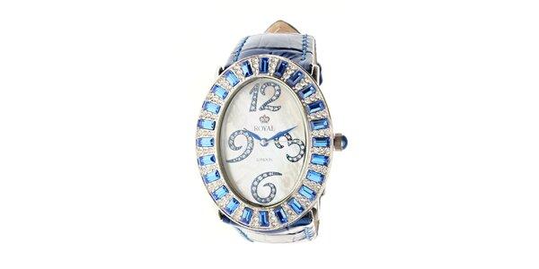 Dámske modré hodinky Royal London s modrým remienkom
