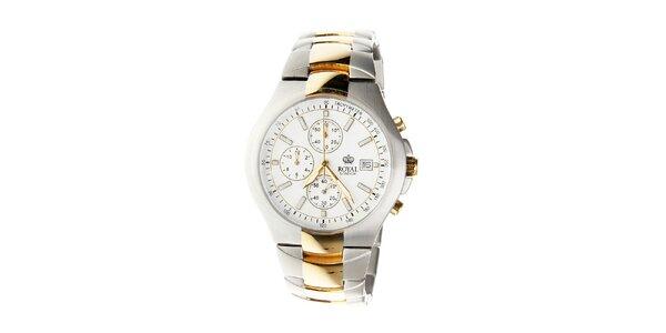 Pánske titanové hodinky Royal London so zlatými detailami