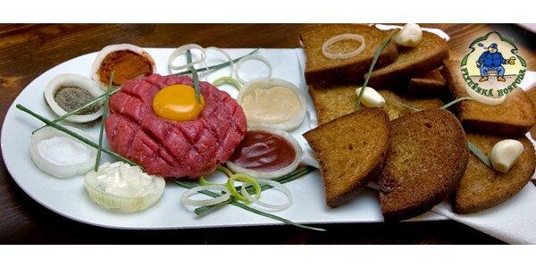 Tatársky biftek z pravej hovädzej sviečkovice z mladého býka
