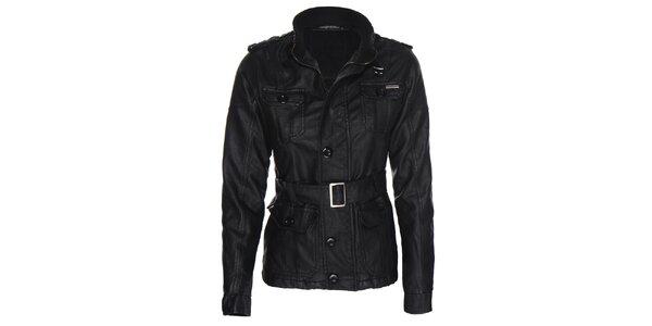 Dámska motorkárska čierna bunda Giorgio di Mare