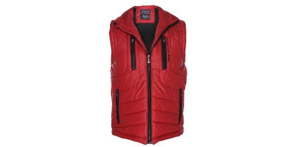 Pánska červená prešívaná vesta Giorgio di Mare