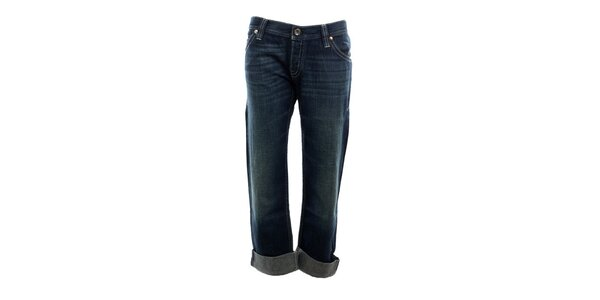 Dámske modré džínsy s vyšisovaným lookom Nolita