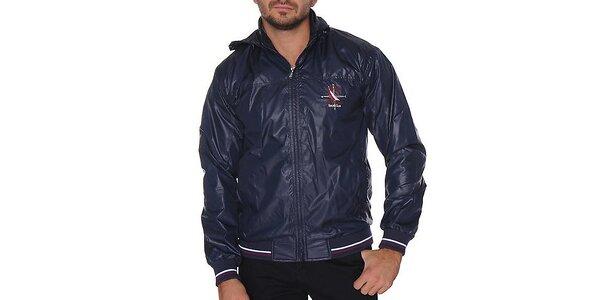 Pánska tmavo modrá bunda s kapucňou Giorgio di Mare
