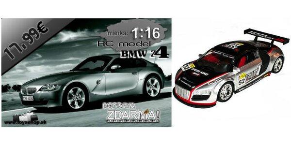 Autá BMW Z4 Coupe a AUDI R8 Sport Edition na diaľkové ovládanie