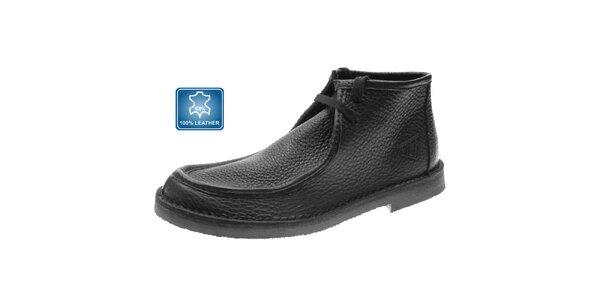 Pánske čierne kožené topánky Beppi