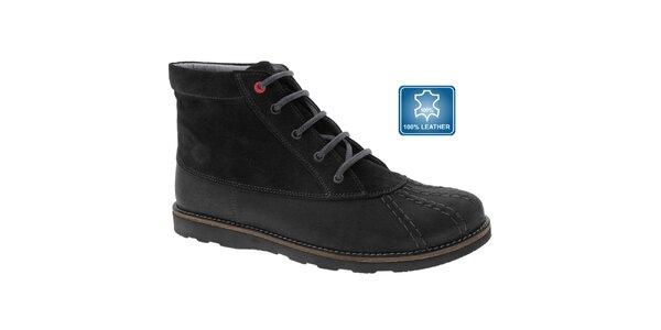 Dámske čierne kožené casual topánky Beppi