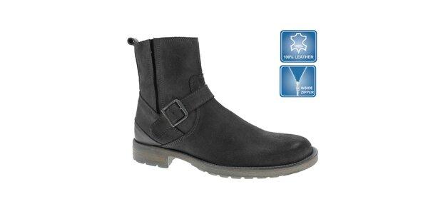 Pánske šedé členkové topánky Beppi s prackou