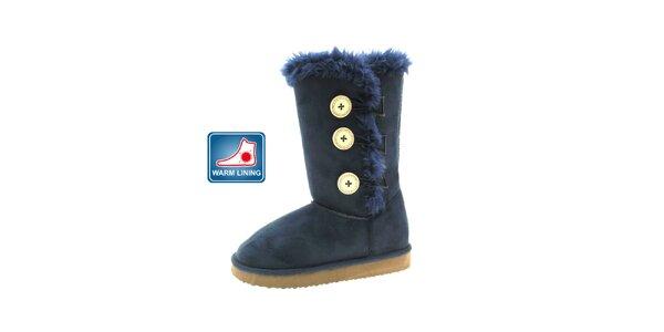 Dámske modré kožené casual topánky Beppi