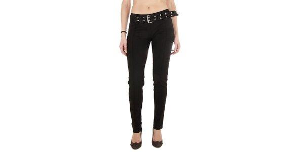 Dámske čierne nohavice Miss Sixty so širokým opaskom