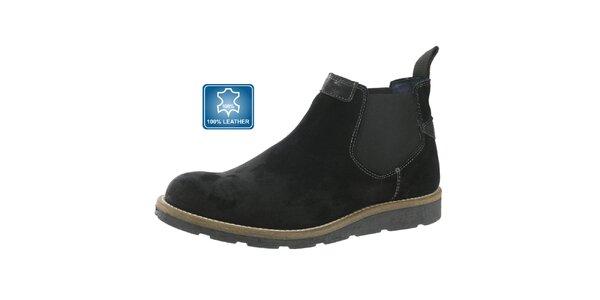 Pánske členkové kožené topánky Beppi čierne