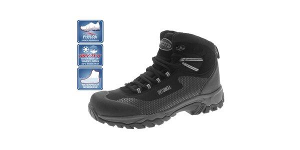 Pánske zimné členkové topánky čierne Beppi