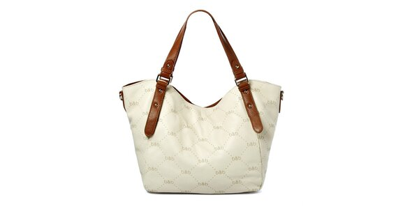 Dámska biela kabelka s logom Belle & Bloom