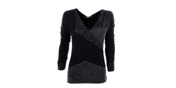 Dámske čierno-šedé tričko Angels Never Die
