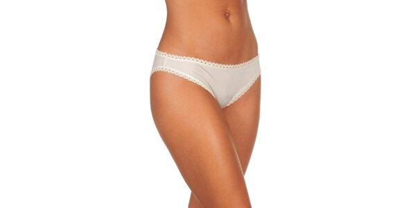 Dámske slonovinovo biele nohavičky Calvin Klein