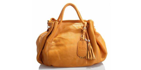 Dámska žltá kožená kabelka Belle & Bloom