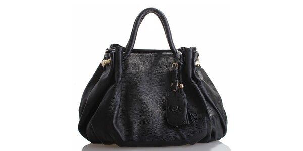 Dámska čierna kožená kabelka Belle & Bloom
