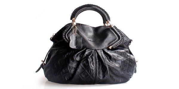 Dámska čierna kabelka Belle & Bloom s ozdobným riasením