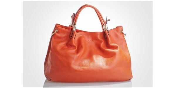 Dámska oranžová kabelka Belle & Bloom so zlatými detailami