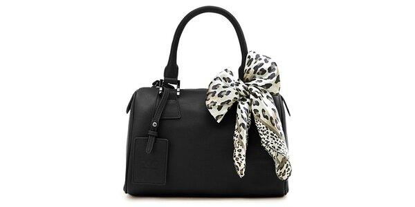 Dámska čierna kufríková kabelka Belle & Bloom s ozdobnou šatkou