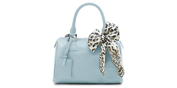 Dámska svetlo modrá kufríková kabelka Belle & Bloom s ozdobnou šatkou