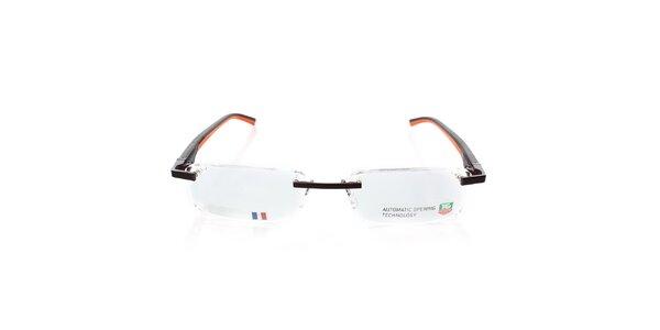 Designové okuliare Tag Heuer s hnedo-oranžovými stranicami