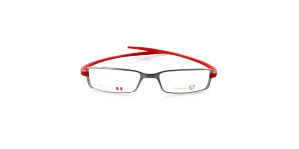 Designové kovové okuliare Tag Heuer s červenými stranicami