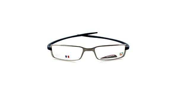Designové šedo-modré titanové okuliare Tag Heuer