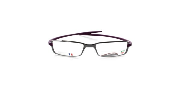 Designové kovové okuliare Tag Heuer s fialovými stranicami