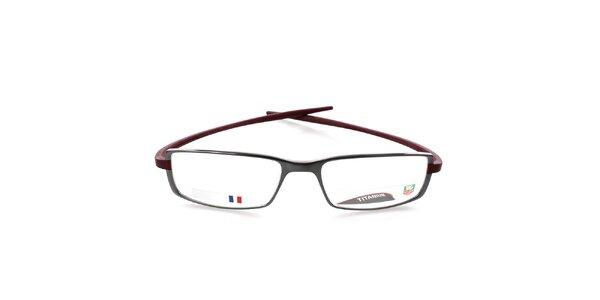 Antracitovo-vínové designové okuliare Tag Heuer