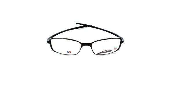 Čierne designové okuliare Tag Heuer