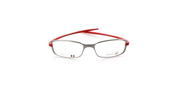 Šedo-červené designové okuliare Tag Heuer