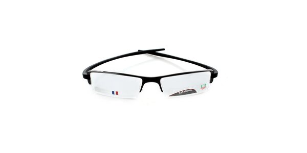 Designové čierne tenké okuliare Tag Heuer