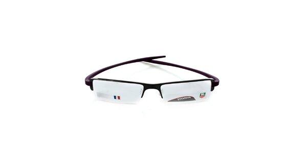 Designové čierno-fialové okuliare Tag Heuer