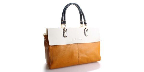 Dámska tmavo žltá kabelka Belle & Bloom s krémovým lemom