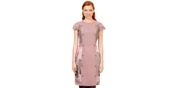 Dámske ružovo-šedé šaty Rosalita McGee