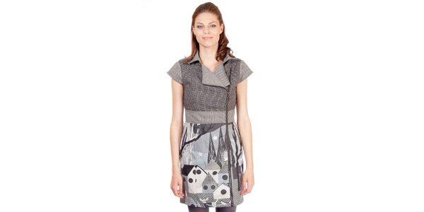 Dámske šedé šaty s potlačou Rosalita McGee