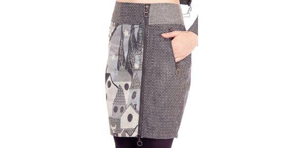 Dámska šedá sukňa s potlačou Rosalita McGee