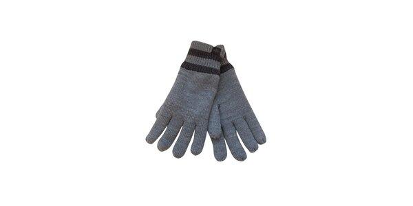 Pánske svetlo šedé rukavice Dockers