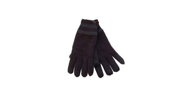 Pánske čierne rukavice Dockers