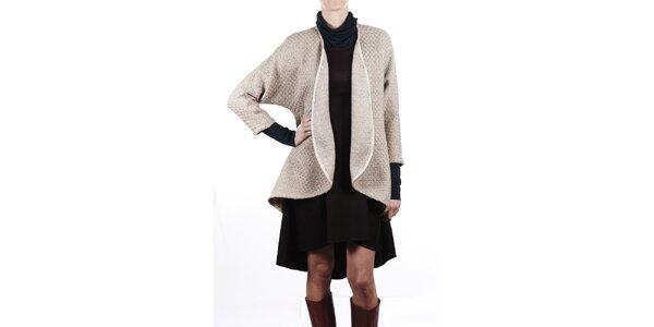 Dámsky béžový vlnený kabát Gene