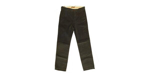 Pánske šedo-zelené nohavice Dockers