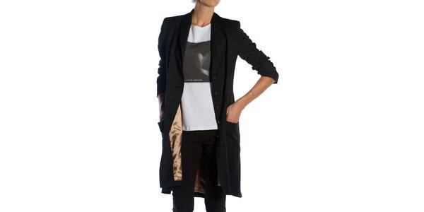 Dámsky dlhý čierny kabát Gene