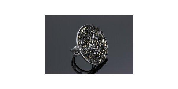 Dámsky guľatý prsteň Swarovski s metalickými kryštáľmi