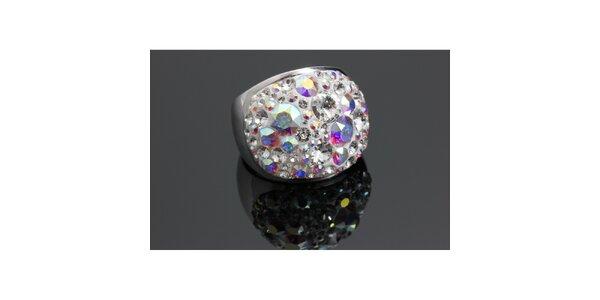 Dámsky dúhový prsteň Swarovski