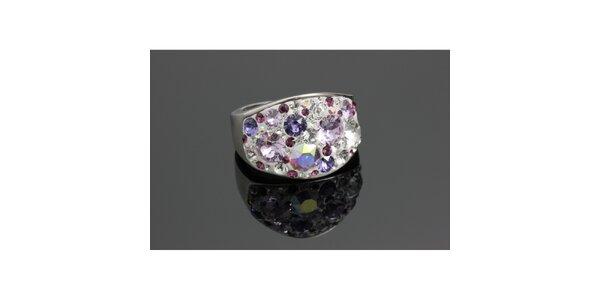 Dámsky prsteň Swarovski s fialkovými kryštáľmi