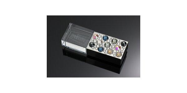 Dámske luxusné USB s farebnými kryštáľmi Swarovski
